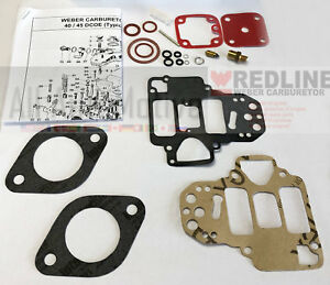Weber Redline 40 Dcoe 45 Dcoe Carburetor Carb Rebuild Repair Tune Up Kit New