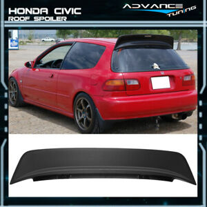 92 95 Honda Civic 3dr Eg6 Hatchback Abs Black Jdm Bys Style Roof Spoiler Wing