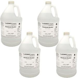 Nc 0028 Ethyl Alcohol Case Of 4 X 1 Gal Denatured Tech Grade Save 15