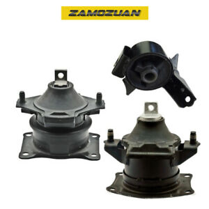 Front Rear Engine Motor Mount Set 3pcs For 2007 2013 Acura Mdx 3 7l
