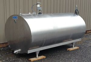 600 Gallon Stainless Steel Tank Horizontal Sanitary