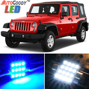 8 X Premium Blue Led Lights Interior Package For Jeep Wrangler 2007 2019 Tool