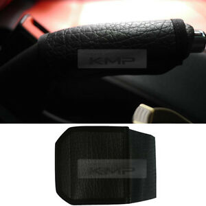 Color Black Leather Emergency Brake Cover For All Vehicles