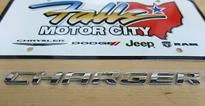 2006 2014 Dodge Charger Rear Decklid Trunk Chrome Nameplate Emblem Mopar Oem