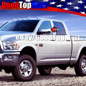 For Dodge Ram 1500 2500 3500 2009 2010 2011 2012 Chrome Mirror Covers Signal Cut