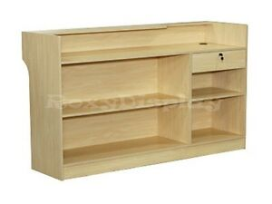 Maple Ledgetop Counter Display Case Store Fixture Knocked Down ltc6m