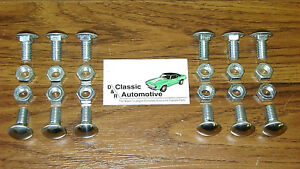 Bumper Bolts 24pc Kit Front Rear Chevelle Nova Lemans Cutlass
