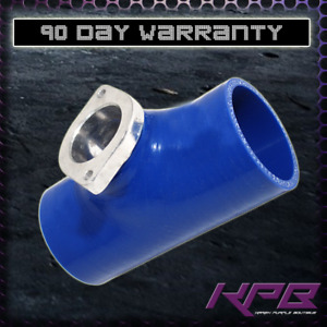 Blue Silicone Blow Off Valve Flange Coupler 2 5 Inch For Greddy Type Rs S