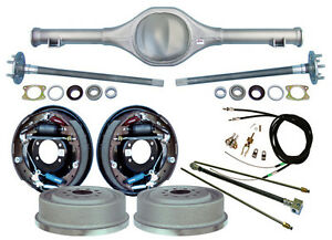 Currie 82 97 S 10 Blazer Rear End 11 Drum Brakes lines parking Cables axles