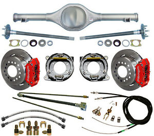 Currie 82 97 S 10 Blazer Rear End Wilwood Disc Brakes Red Lines Cables Axles
