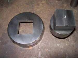 1 5 Inch Square Whitney Punch Die Set Same As Used In Diacro Press