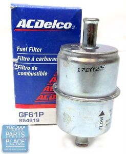 1964 66 Pontiac Gto Tri Power Fuel Filter Without Return Ac Delco Silver