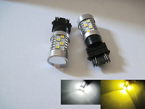 2x 3157 Samsung 20 3535smd 40w High Power Led White Super Yellow Switchback