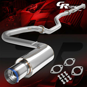 4 Muffler Burnt Tip Catback Racing Exhaust System For 05 10 Scion Tc Coupe 2 4l