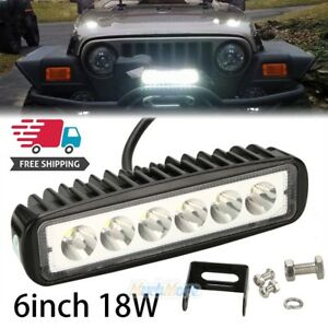 6inch 18w Cree Led Work Light Bar Spot Beam Offroad Driving Fog 4wd Lamp Ute Suv