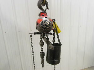 Aro 7750d 1 2 Ton Air Pneumatic Chain Hoist 1000 Lb 11 Lift