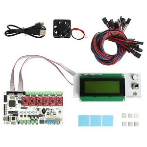 Geeetech Rumba Atmega2560 With Stepper Driver A4988 Heatsink Lcd 2004 Reprap