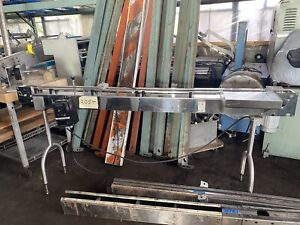 Stainless Steel Sanitary Top Conveyor 86 Long 4 Wide Tabletop Chain