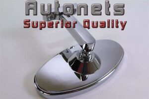 Bolt Screw On Chrome 5 Oval Interior Rear View Mirror Hot Rod Chevy Ford Gm