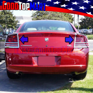 For Dodge Charger 2005 2006 2007 2008 2009 2010 Chrome Tail Light Covers Lights
