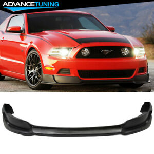 For 13 14 Ford Mustang Front Bumper Lip Unpainted Black Poly Urethane
