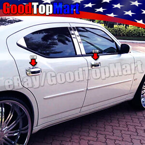 For Dodge Charger 2005 2006 2007 2008 2009 2010 Chrome 4 Door Handle Covers W O