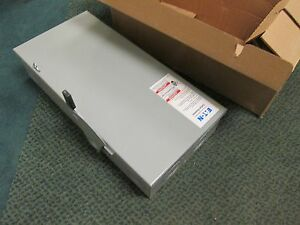 Cutler hammer Fusible Safety Switch Dg223ngb 100a 240v 2p New Surplus