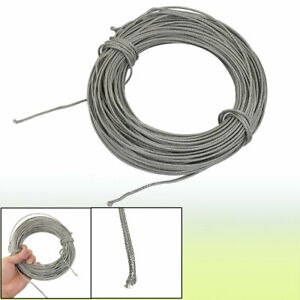 30m Silver Tone Metal K Type Thermocouple Extension Wire
