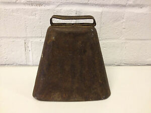 Antique Primitive Old Farm Metal Cow Bell Good Ringing Sound