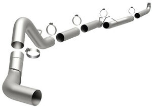 Magnaflow Straight Pipe 5 Downpipe Back Exhaust For 2001 2007 Duramax 6 6l