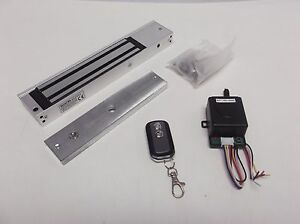 Combo a 600 Lbs Magnetic Door Lock Remote Control Uninterruped Power Box