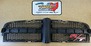 2006 2010 Dodge Charger Black Honeycomb Grille Insert With R T Badge Emblem Oem