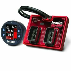 Banks 61424 Six Gun Tuner With Idash 1 8 For 2003 2007 Ford 6 0l Powerstroke