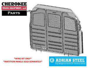 Adrian Steel Wkc1fdts Steel Partition Mounting Kit Gray Transit Low Roof