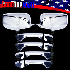 For Honda Accord 2008 2011 2012 Chrome Coveres Set Full Mirrors 4 Doors W out Pk