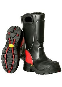 Fire dex Fdxl 100 Red Leather Structural Fire Fighting Boots Bunker Boots New