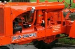 Allis Chalmers Ac Wc Decal Set Black Lettering Aftermarket