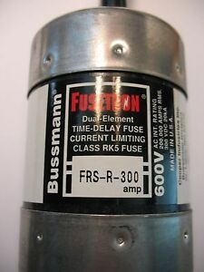 Bussman Frs r 300 Dual Element Time Delay Fuse Rk5 600 Volt
