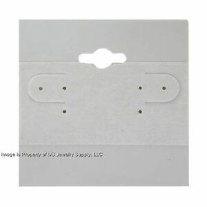 1000 Grey Hanging Earring Display Cards 2 h X 2 w With Lip