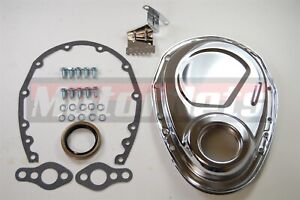 Sbc Chevy Chrome Steel Timing Cover Kit Tab283 327 350 383 400 Small Block Chevy