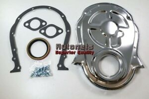 Bbc Chevy Big Block 396 427 454 Chrome Steel Timing Chain Cover Gaskets Bolts