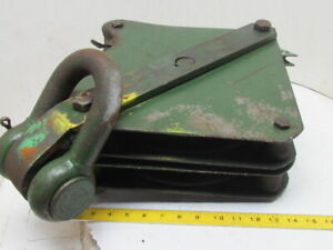 Uw 12 Wire Rope Cable Block W dual 12 Pulley Sheaves For 5 8 Or 3 4 Wire Rope