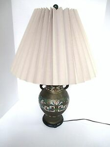 Antique Asian Champleve Lamp Beautiful Japanese Or Chinese