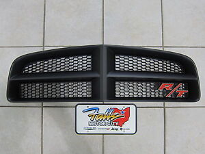 2006 2010 Dodge Charger Daytona Matte Black Grille And R T Emblem Mopar Oem