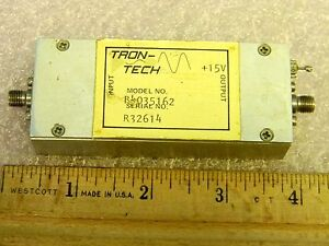 Sma Rf Amplifier 200mhz 1 8ghz 35db Gain Tron tech B4035162 Tested