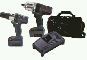 Ingersoll Rand 20v Iqv 1 2 Cordless Impact Wrench And Drill Kit Ir Iqv20 204
