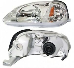 1999 2000 Driver Side Lh Headlight Honda Civic Cx Dx Ex Gx Hx Lx Si
