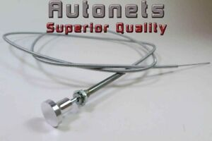 Billet Aluminum Knob Carburetor Manual Choke Cable Hot Rat Rod Holley Edelbrock