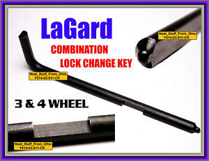 La Gard Lagard Change Key for 3 4 Wheel Combination Locks Lg1307 Lg1315