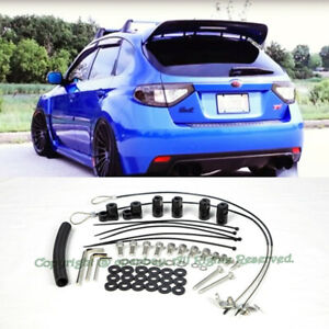 For 08 14 Subaru Impreza Wrx Sti Hatchback Rear Spoiler Wing Riser Kit